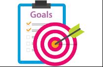 bullseye target and goals