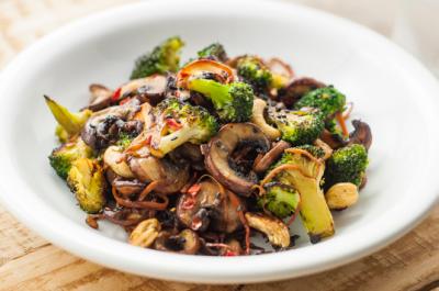 mushroom veggie stir fry
