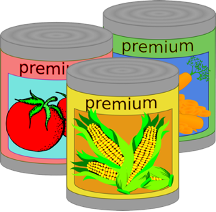 vegetable cans